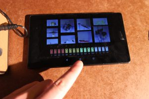 Tablet with a 16bar step sequencer